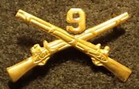 Korean War US Army 9th Infantry Regiment Officers Branch Insignia 'Manchus' Rare