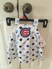 Baby girl summer dress, 18 month, Chicago Cubs, White Sox, reversible front-back