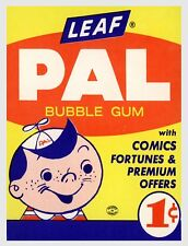 "TIN SIGN ""Pal Bubble Gum"" Snacks Art Deco Garage Wall Decor"