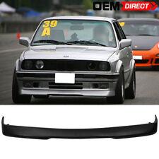 For 84-92 BMW E30 3-Series RG Style Front Bumper Lip Spoiler Black-PU