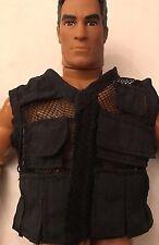 1/6 Scale Black Mesh Tactical Utility Vest , Rare