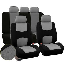 Front & Rear 5 Bucket Universal Car Seat Covers Protector Gray for Car Auto SUV