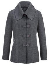 Kochwollblazer Blazer Jacke Wollblazer Damen Wolljacke grau Gr. 50