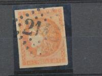 1870 FRANCE N°48 40c orange obl. Losange GC Cote 130€ A1197