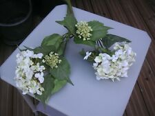 ARTIFICIAL HYDRANGEA FLOWERS X 2 - WHITE - GREAT CONDITION