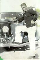 1936 Ford V-8 Car 1938 New Jersey License Plat Manville Phil Pero Vintage Photo