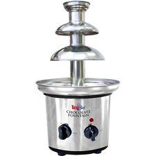Stainless Steel 2-Tier Mini Fondue Fountain, Chocolate, Carmel Cheese Tower Set