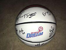 2017 Atlanta Dream Team Signed Autographed Logo White Panel Basketball Proof Coa