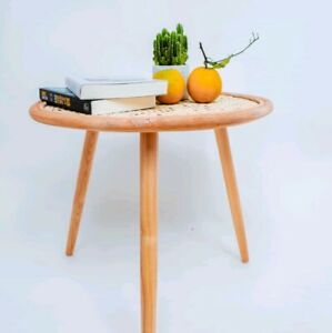 Round Coffee Table Natural Rattan, Wicker, Bamboo