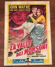 manifesto,2F La valle dei monsoni Three Faces West,JOHN WAYNE,GURIE,1951 WESTERN