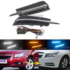 2X LED Daytime Running Light DRL w/Turn Fog Lamps for Chevrolet Cruze 2009-2014