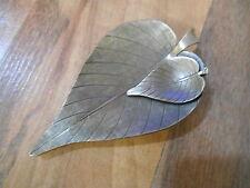 "Old or Vintage Jeri-Lou Shoe Scarf or Dress Clip Jewelry Leaf Leaves 2 3/4"" long"
