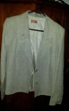 Linen 3/4 Sleeve Striped Button Down Shirt Tops for Women