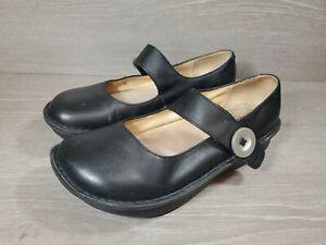 ALEGRIA Paloma PAL- 601 PG LITE Black Leather Mary Janes EUR 39 US 8-8.5