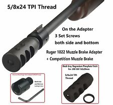5/8X24 Thread Compact Muzzle Brake For .308+Ruger 1022 Muzzle Brake Adapter 308