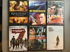 LOT 6 DVD's -ActIon Movies - Kingdom of Heaven, Submerged, Flight of The Phoenix