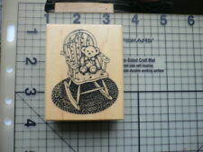 PSX (personal stamp exchange) Wood Mounted Rubber Stamp Nursery fauteuil à bascule