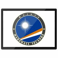 Quickmat Plastic Placemat A3 - Marshall Islands Majuro Flag Stamp  #5087
