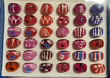 Box of 36 Plastic PVC Fashion Rings Assorted Styles NEW Dress Up Resale