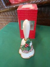 "Collectible Bell Fitz & Floyd ""Essentials"" Holiday Bell.Free Postage Usa"