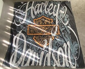 *NEW* Harley Davidson Motorcycles Shower Curtain 72 x 72 With Hooks