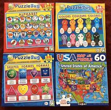 Puzzlebug & Cra-Z-Art 24 and 60 Piece Jigsaw Puzzles Alphabet  Colors Shapes USA