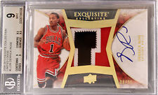 2008-09 Derrick Rose Upper Deck Limited Logos RC Patch Auto /25 BGS 9 / 10