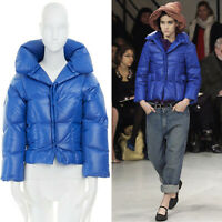 runway JUNYA WATANABE AW04 blue quilted padded down cocoon jacket S US4 UK8