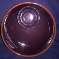 OLIVE DISH - EARTHENWARE OLIVE AND PIT SERVING DISH 14.25 CM DIA