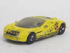 """Ford GT 90 gelb """"Collision Patrol"""" + Dekorstreifen, ohne OVP, Hot Wheels, 1:64"""