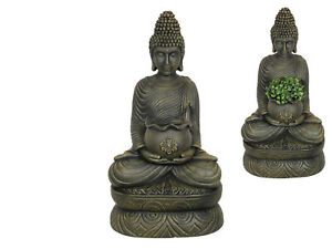 1pce 55cm Sitting Rulai Buddha Holding Pot for Plants or Succulents Resin Outdoo