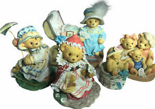 Lot of 5 Cherished Teddies Collection Figurines 1997 Easter, Christmas Nice!