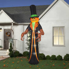 Airblown Inflatable Giant Pumpkin Reaper with Top Hat 12 Ft