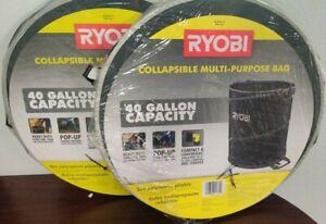 Ryobi Black Lawn And Leaf Bag 40 Gallon capacity Collapsible 2x