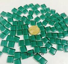 100 pcs Green Glass Mosaic Tiles