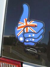 AUSTRALIA THUMBS UP FLAG - HUMOUR - AUSSIE -  CAR DECALS - STICKER **