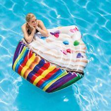 Materassino Gonfiabile Cupcake Intex Giochi Cavalcabili Piscina Mare Spiaggia