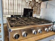 New listing 2004 Dacor 6 Burner Stainless Steel 36 x 27 x 8 Gas Cooktop Model# Esg366Sch