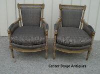 59239  Pair Vintage Bergere Armchair Chair Chair s