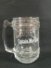 Captain Morgan Embossed Clear Glass Mug Tankard Stein