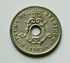 1905 BELGIUM (Belgique) Coin - 10 Centimes - EF+ toned-lustre