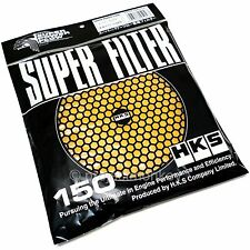 HKS Super Power Megaflow Air Filter Replacement Element 150mm Yellow Dry Genuine