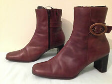 SEXY DOROTHY PERKIN BROWN LEATHER ANKLE BOOTS UK 8 EU 41  WINTER