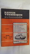 REVUE TECHNIQUE N° 329 NOV.1973 SKODA 1000MB 1100MB S100 S110               (B8)