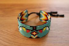 NATIVE AMERICAN SEED BEAD BRACELET. 4 DIRECTION COLORS THUNDERBIRD