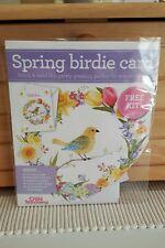 Spring birdie cross stitch  card kit  - New