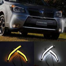 Switchback Bumper LED Daytime Running Light DRL Kit For Subaru Forester XT 14-16
