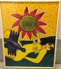 Guillaume CORNEILLE Lithographie lithograph Fête solaire femme et oiseau COBRA *