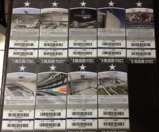 Dallas Cowboys 2009 Unused Inaugural Season 9 Tickets ( 9 of the 10 Home Games)