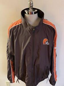 VTG Cleveland Browns Puma Football Jacket NFL 2XL 90's
